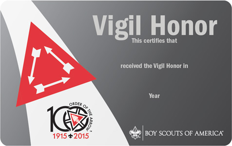 Centennial Vigil Honor Card